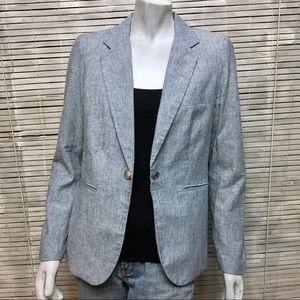 Mercer & Madison Blue Linen Blazer